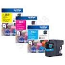 LC-563  BK/C/M/Y ตลับหมึก สีดำ, สีฟ้า, สีชมพู, สีเหลือง  พิมพ์ได้ 600 แผ่น ISO24711